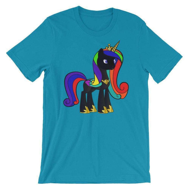 Blacknificent Printed Tee Aqua / S Black Unicorn Magic Unisex T-Shirt