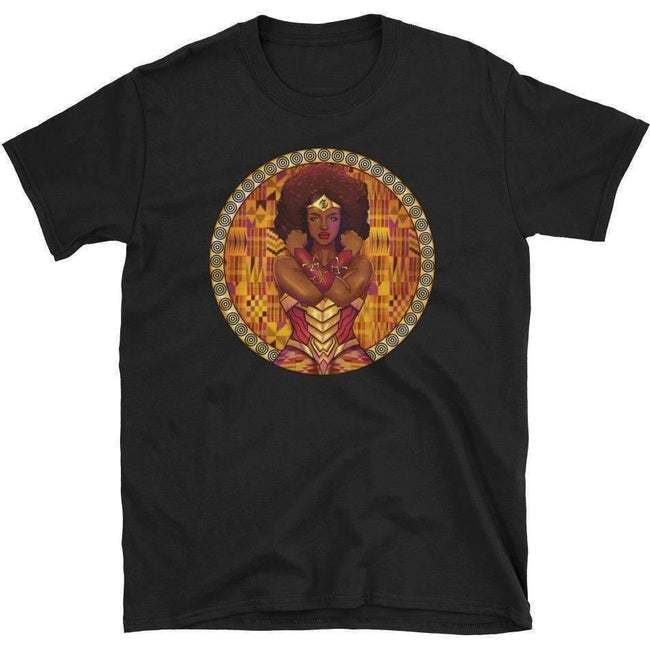Blacknificent Printed Tee Black / S AMARA African Warrior Princess Unisex Tee