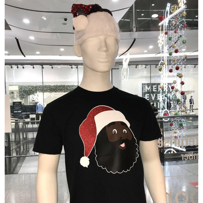 Blacknificent Printed Tee Dope Black Santa Tee