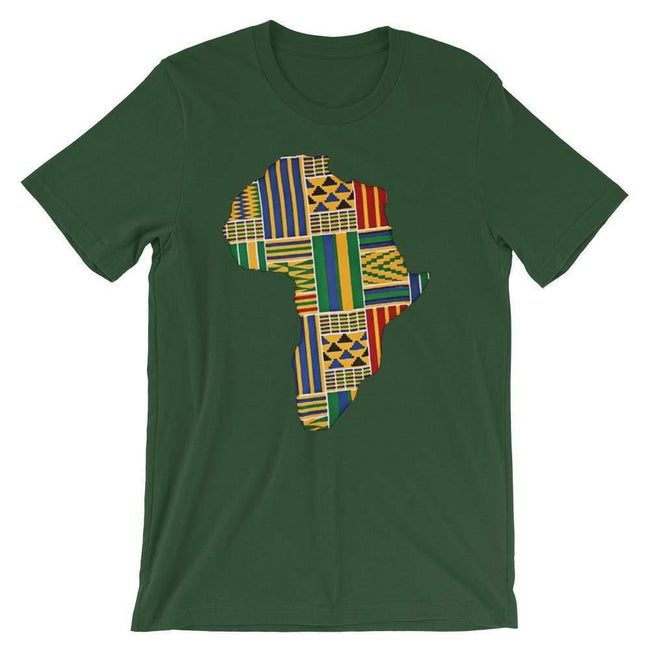 Blacknificent Printed Tee Forest / S Kente Africa Unisex Tee