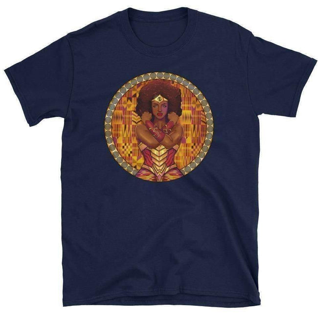 Blacknificent Printed Tee Navy / S AMARA African Warrior Princess Unisex Tee