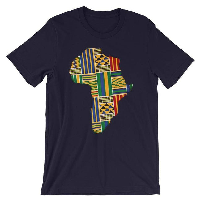 Blacknificent Printed Tee Navy / S Kente Africa Unisex Tee