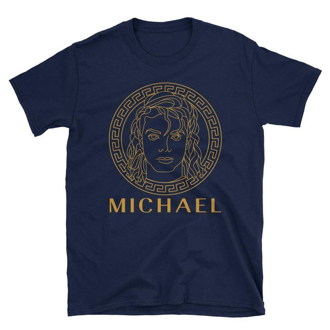 Blacknificent Printed Tee Navy / S Medusa Michael Unisex Tee - Gold