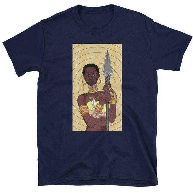 Blacknificent Printed Tee Navy / S Stained Glass Warrior - Unisex Tee