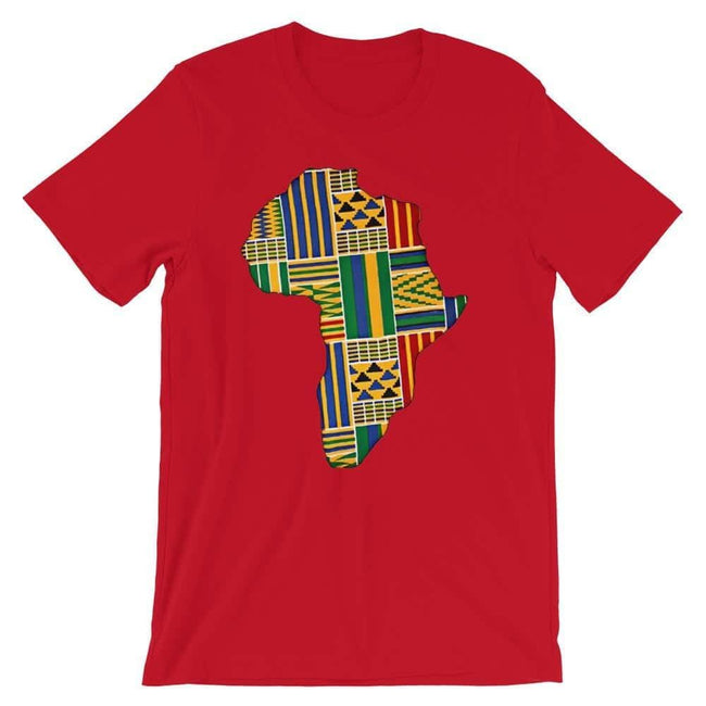 Blacknificent Printed Tee Red / S Kente Africa Unisex Tee