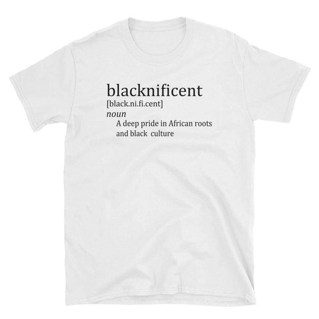 Blacknificent Printed Tee S Blacknificent Pride Short-Sleeve Unisex T-Shirt - Black on White