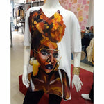 Blacknificent Printed Tee Shermain Double Sided Oversized Print Tee