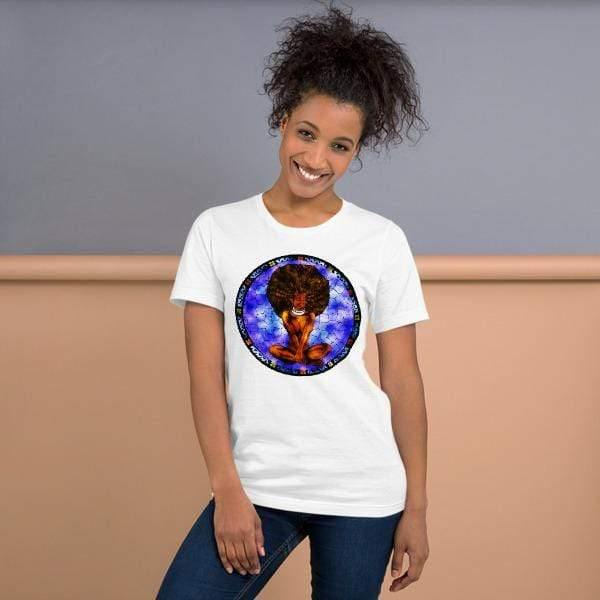 Blacknificent Printed Tee Stained Glass Divine Goddess - Unisex Tee