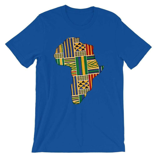 Blacknificent Printed Tee True Royal / S Kente Africa Unisex Tee