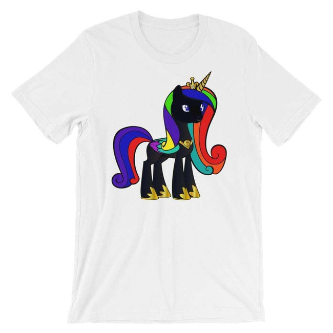 Blacknificent Printed Tee White / S Black Unicorn Magic Unisex T-Shirt