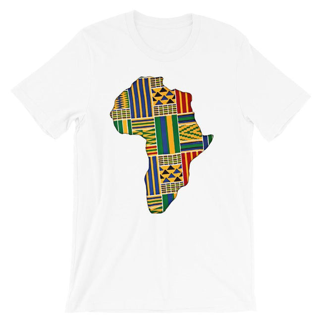 Blacknificent Printed Tee White / S Kente Africa Unisex Tee