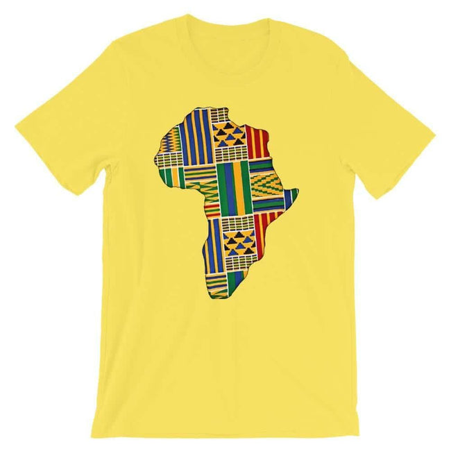 Blacknificent Printed Tee Yellow / S Kente Africa Unisex Tee