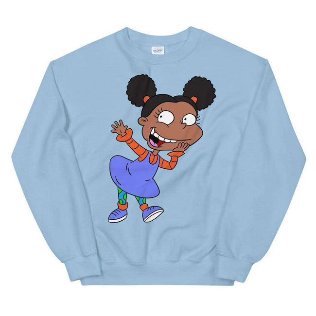 Blacknificent Sweatshirt Light Blue / S Angelica Afro Puffs Crew neck Sweater