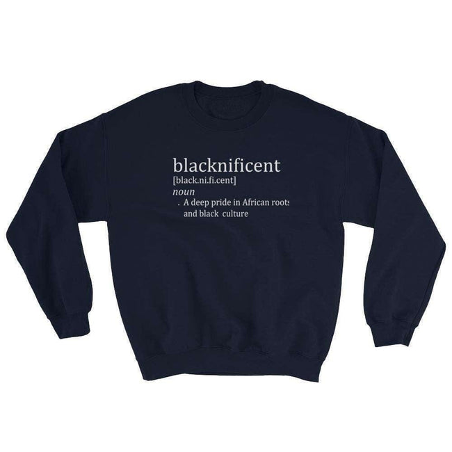 Blacknificent Sweatshirt Navy / S Blacknificent African Pride Sweatshirt