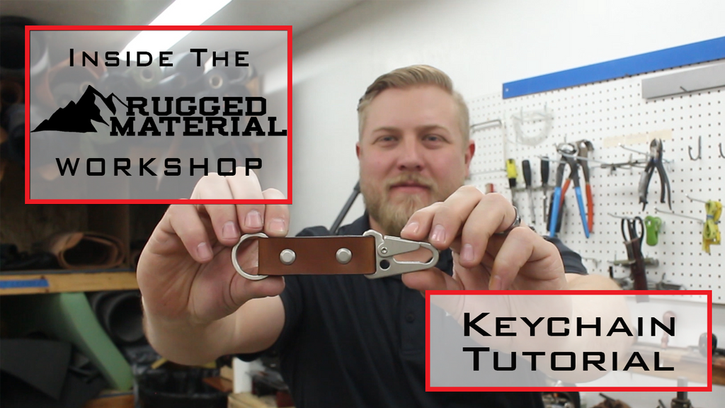 How To Make A Leather Keychain With HK Clip