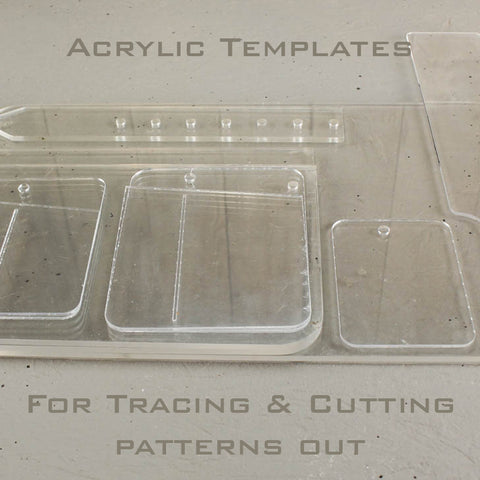 Pocket Knife Slip Set of Acrylic Templates
