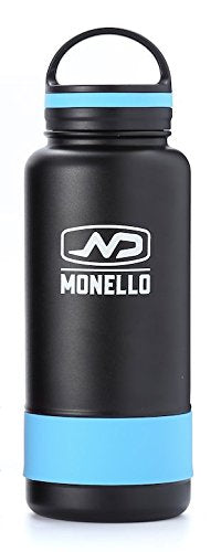 Monello Water Bottle Wide Mouth 32 oz Vacuum Insulated Stainless Steel Hydro Travel Mug - Ice Cold Up to 36 Hrs/Hot 13 Hrs Double Walled Flask - with Strong Cap