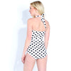 HALTER NECK ONE PIECE - POLKA DOT