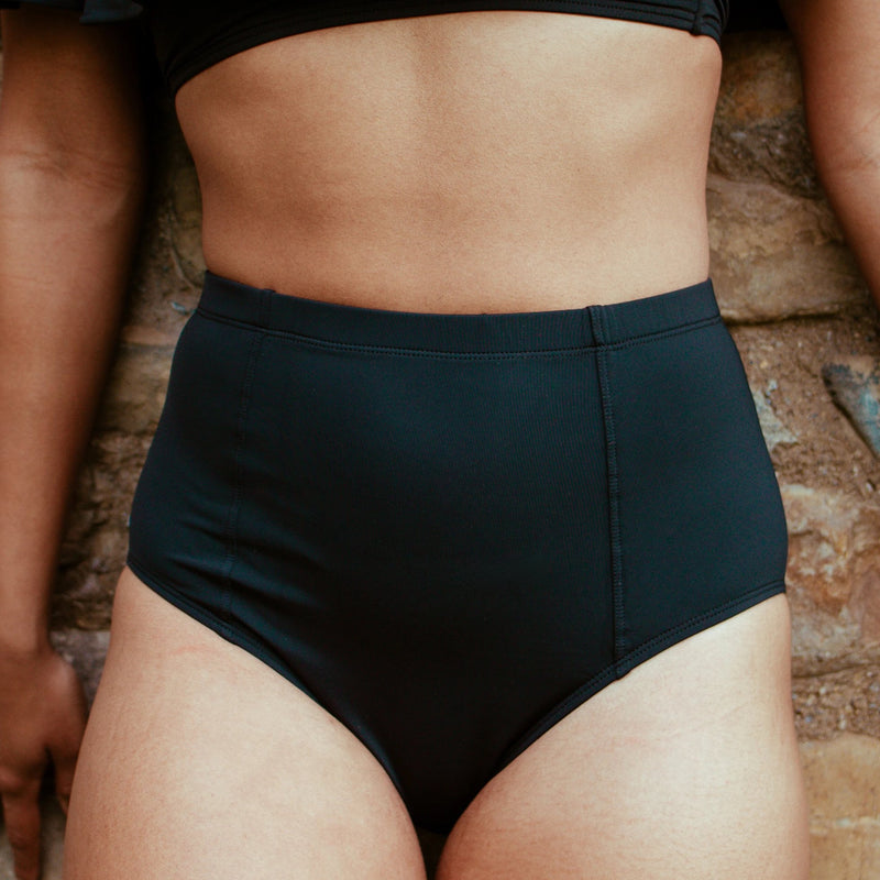 High Hip Black Bombshell Bottom