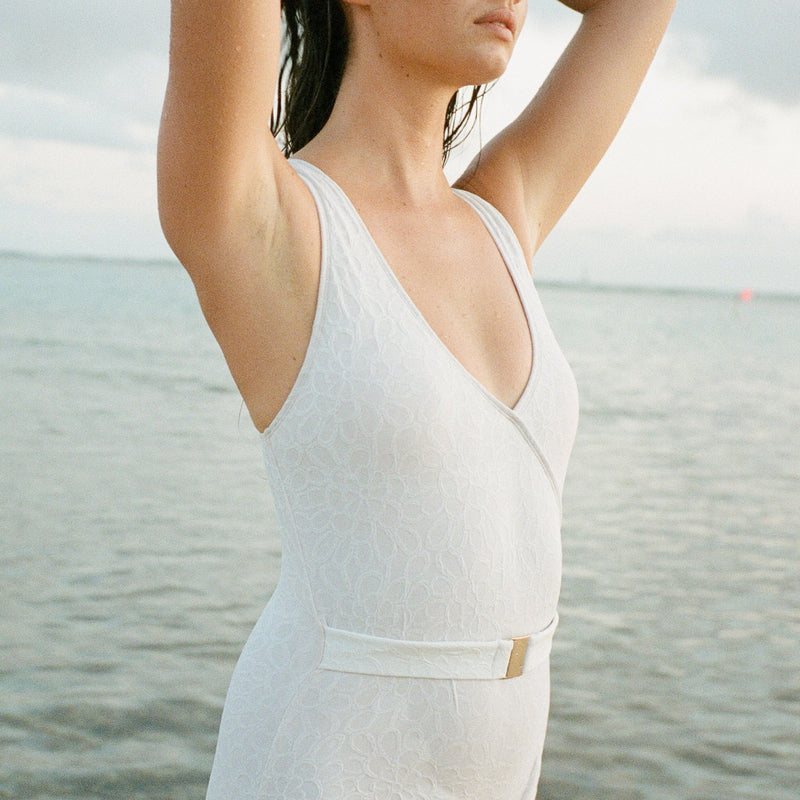 Pearl Luxe Belted One Piece