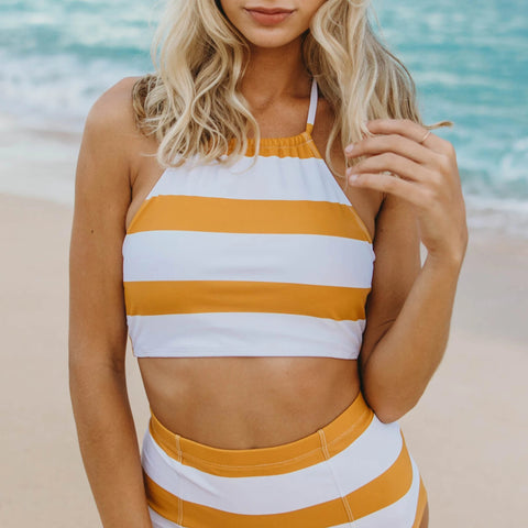 Butterscotch Halter One Piece