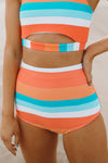 Racer Front One-Piece - Pacific Palm