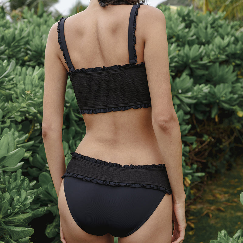 Noir Smocked Hipster Bottoms