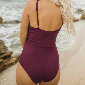 Plum Halter One Piece
