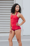 Racer Front One-Piece - Aqua Dot