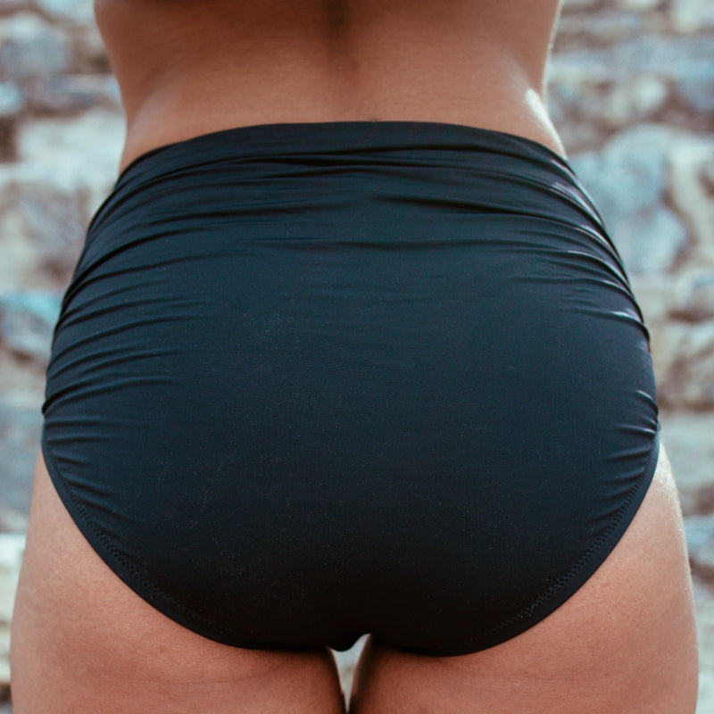 Black Ruched Bottom