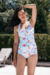 Halter One-Piece - Poppy Blue
