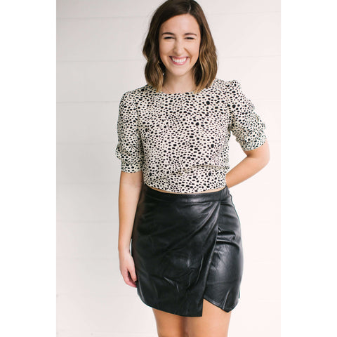 8.28 Boutique - Sadie & Sage All Mine Faux Leather Skirt