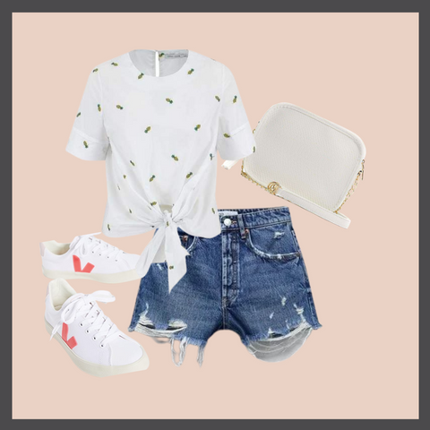 Pineapple Top Outfit Graphic