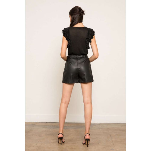 8.28 Boutique:LUCY PARIS,LUCY PARIS Leather Shorts,Bottoms