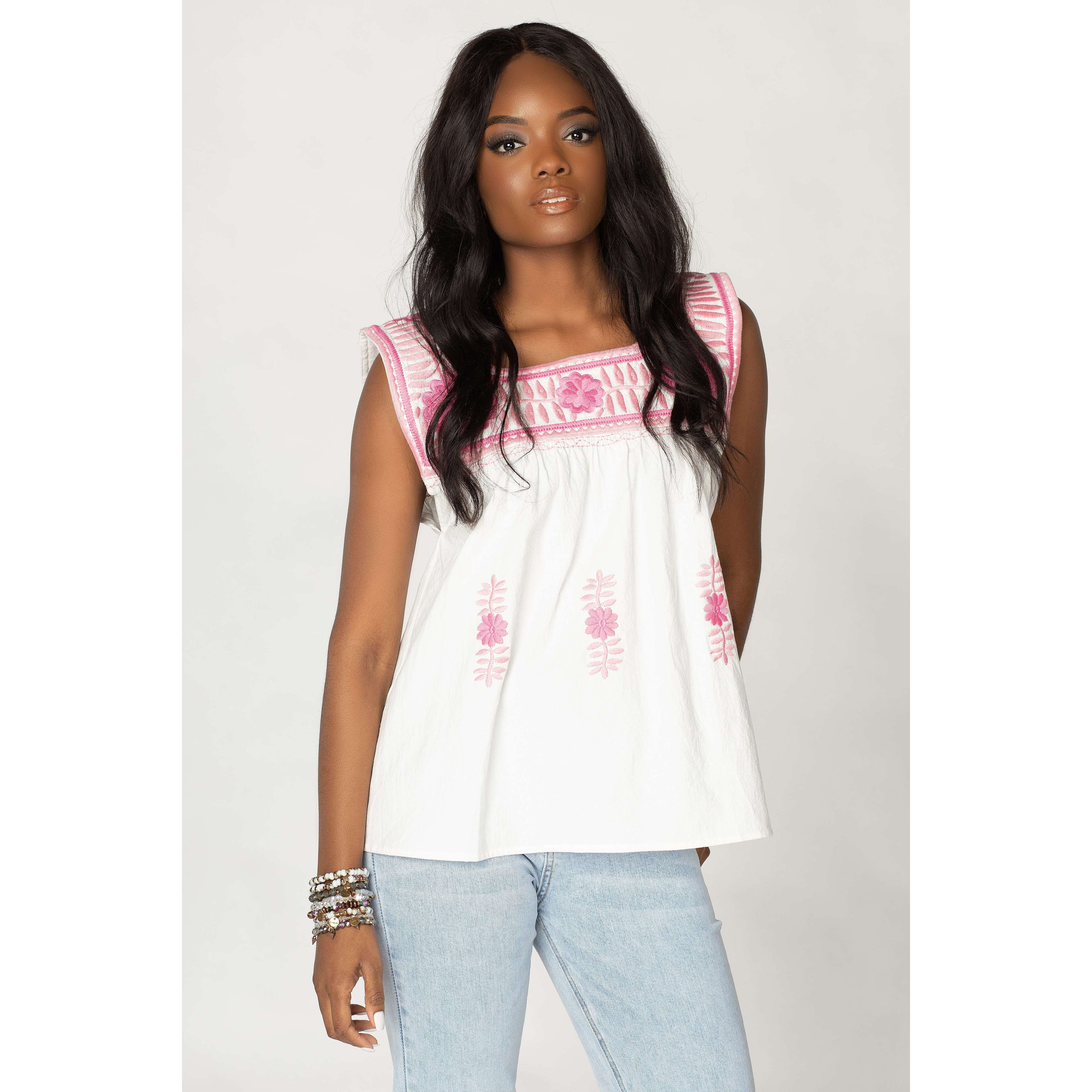 8.28 Boutique:Buddy Love,Buddy Love Maribel Two Tone Pink Top,Top