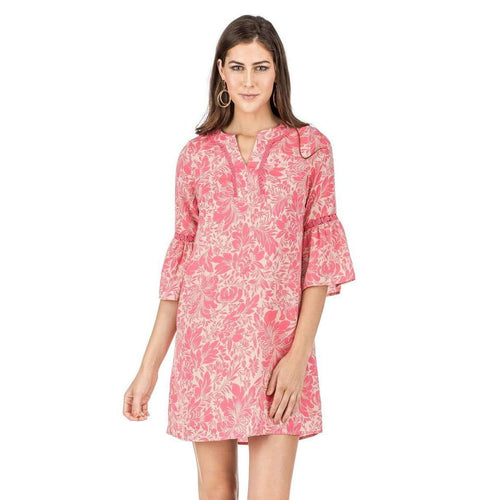 8.28 Boutique:Jade Melody Tam,JADE By Melody Tam Tropical Bell Sleeve Dress,Dress