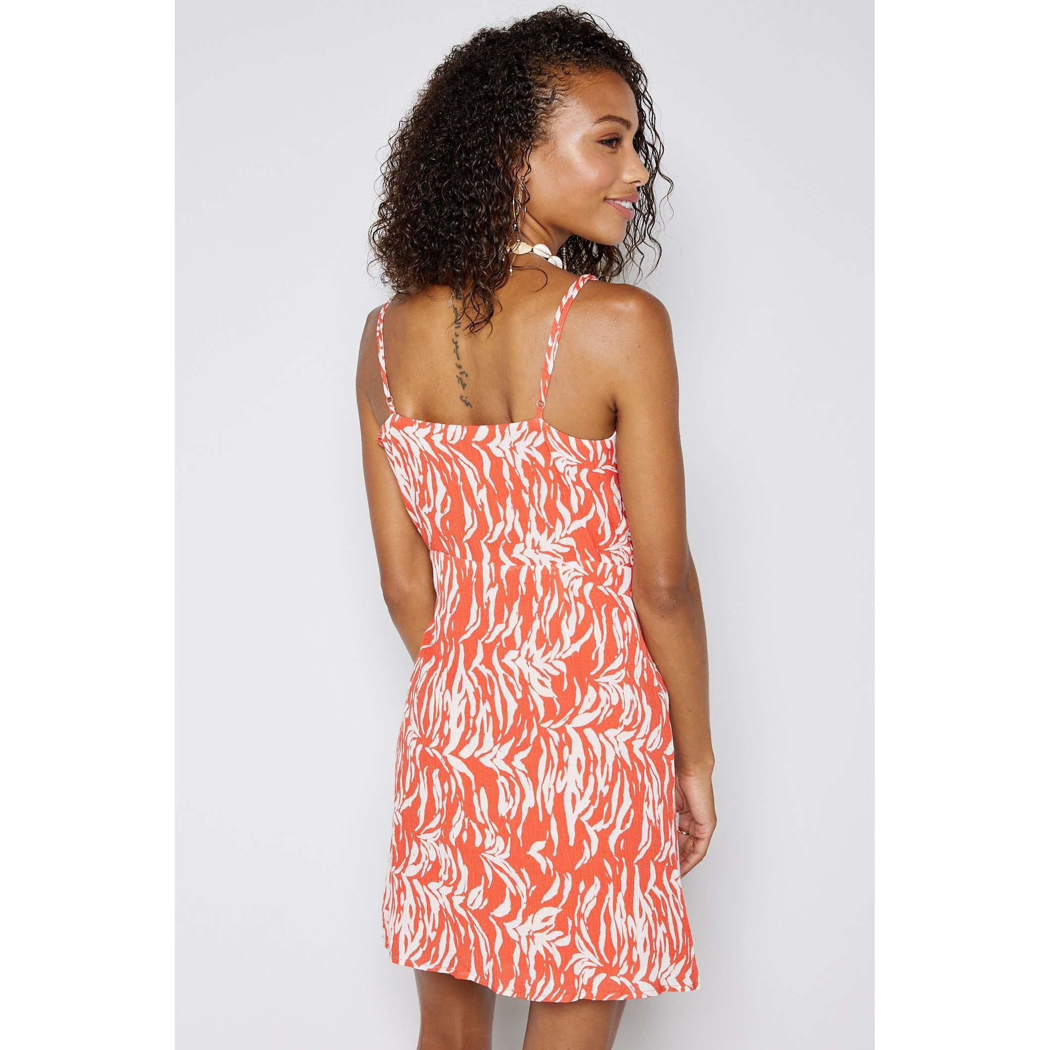 8.28 Boutique:Sadie & Sage,Sadie & Sage En Fuego Electric Coral Wrap Dress,Dress