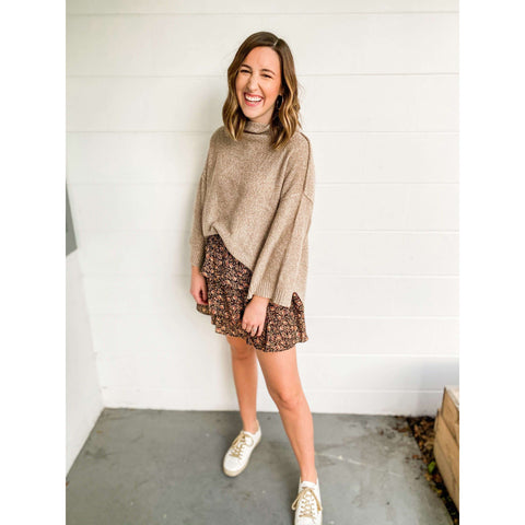 Karlie Clothes Falling For You Beige Sweater