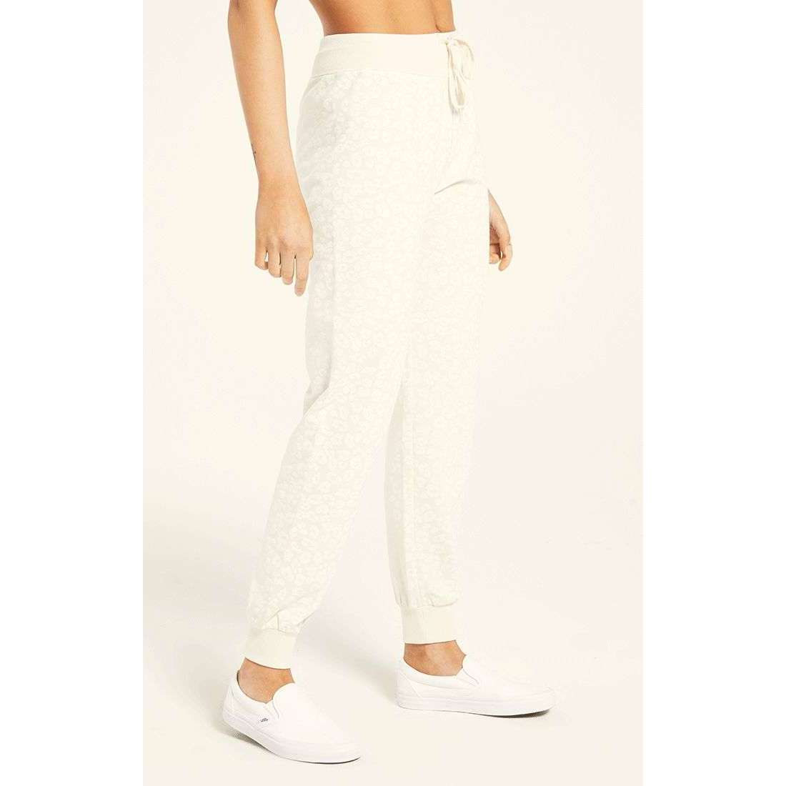 8.28 Boutique:Z-Supply,Z-Supply Ava Leopard Jogger in Bone,Bottoms