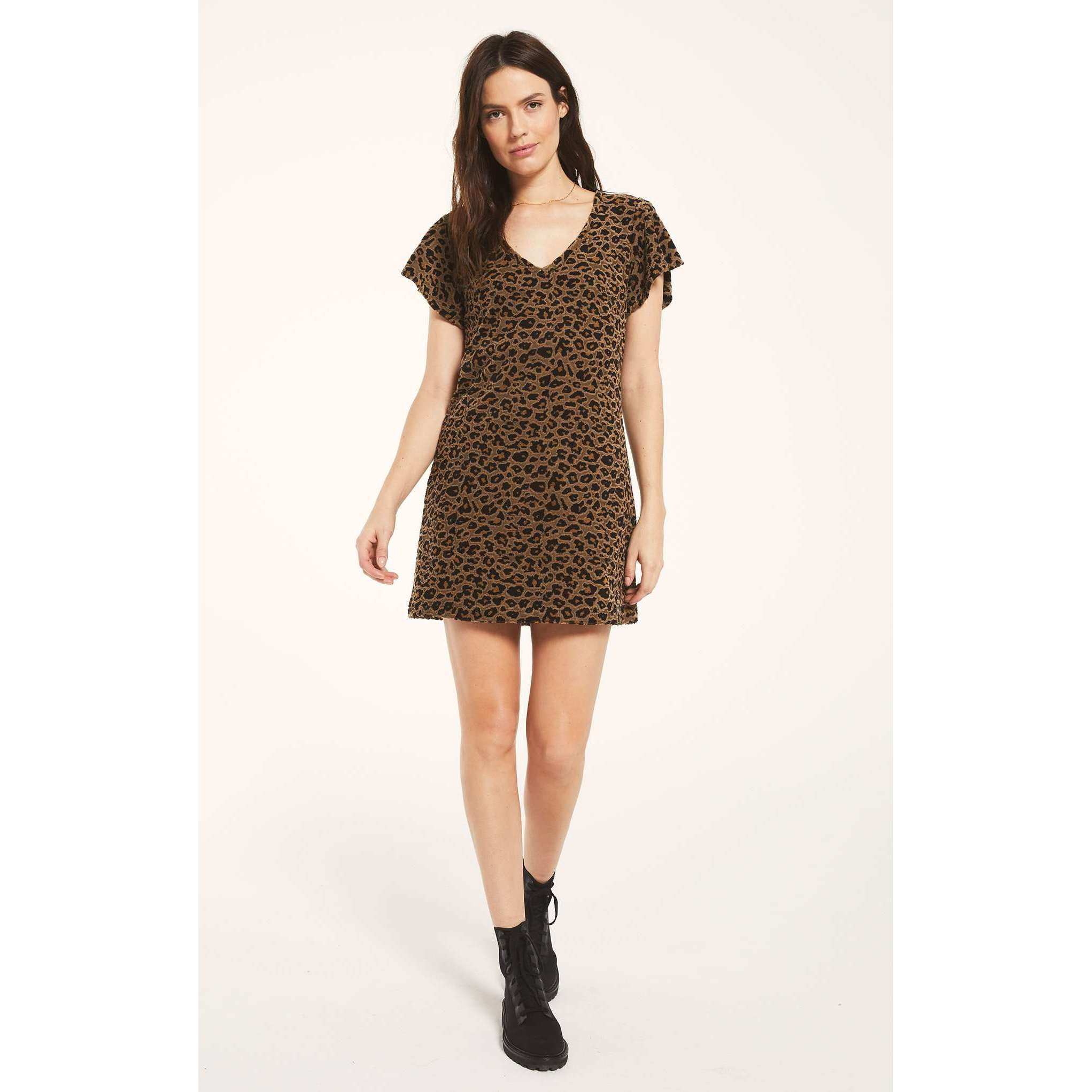 8.28 Boutique:Z-Supply,Z-Supply Lina  Leopard Jacquard Dress,Dress