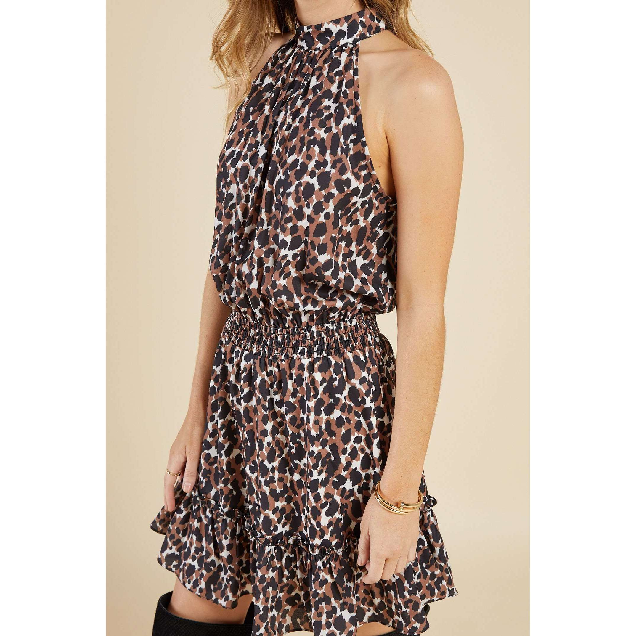 8.28 Boutique:Sadie & Sage,Sadie & Sage Animalia Smocked Waist Dress,Dress