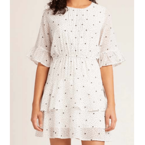 8.28 Boutique:BB Dakota,BB Dakota Dots on Dots Ruffle Dress,Dress