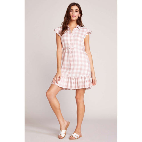 8.28 Boutique:8.28 Boutique,BB Dakota Pink Gingham Dress,Dress
