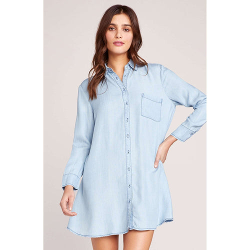 8.28 Boutique:BB Dakota,BB Dakota Chambray Shirt Dress,Dress
