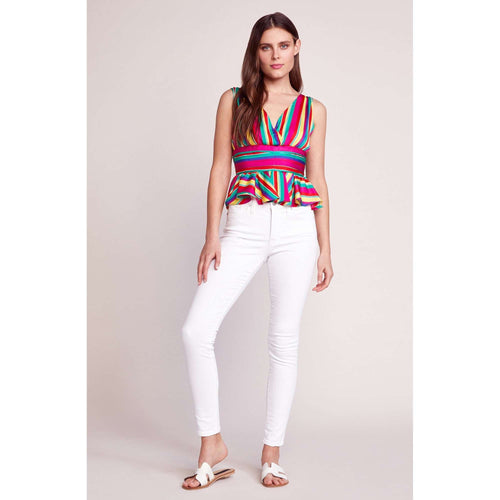8.28 Boutique:BB Dakota,BB Dakota Over the Rainbow Crepon Top,Tops