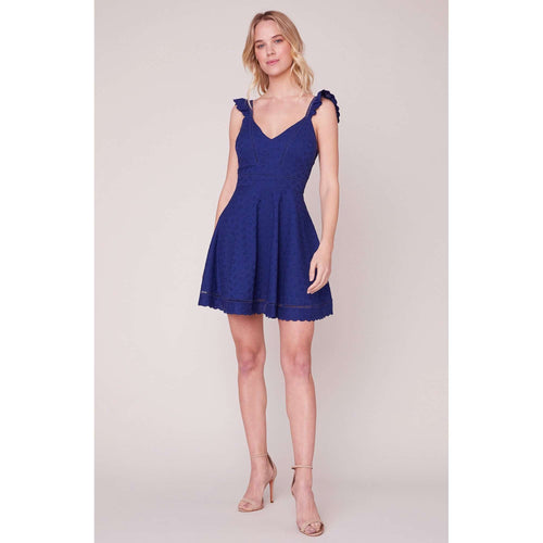 8.28 Boutique:BB Dakota,BB Dakota Eyelet You Win Navy Dress,Dress