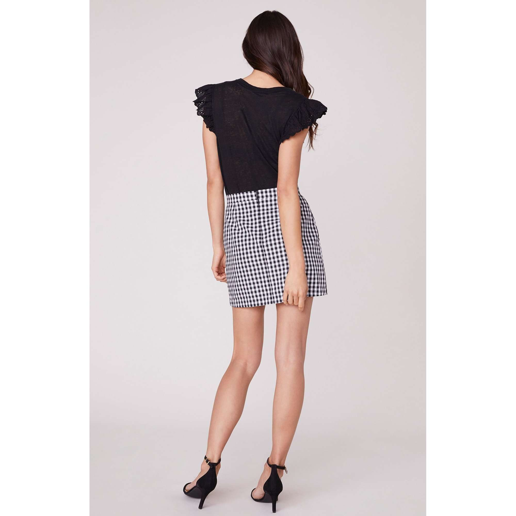 8.28 Boutique:BB Dakota,BB Dakota Check Yo Self Gingham Skirt,Bottoms