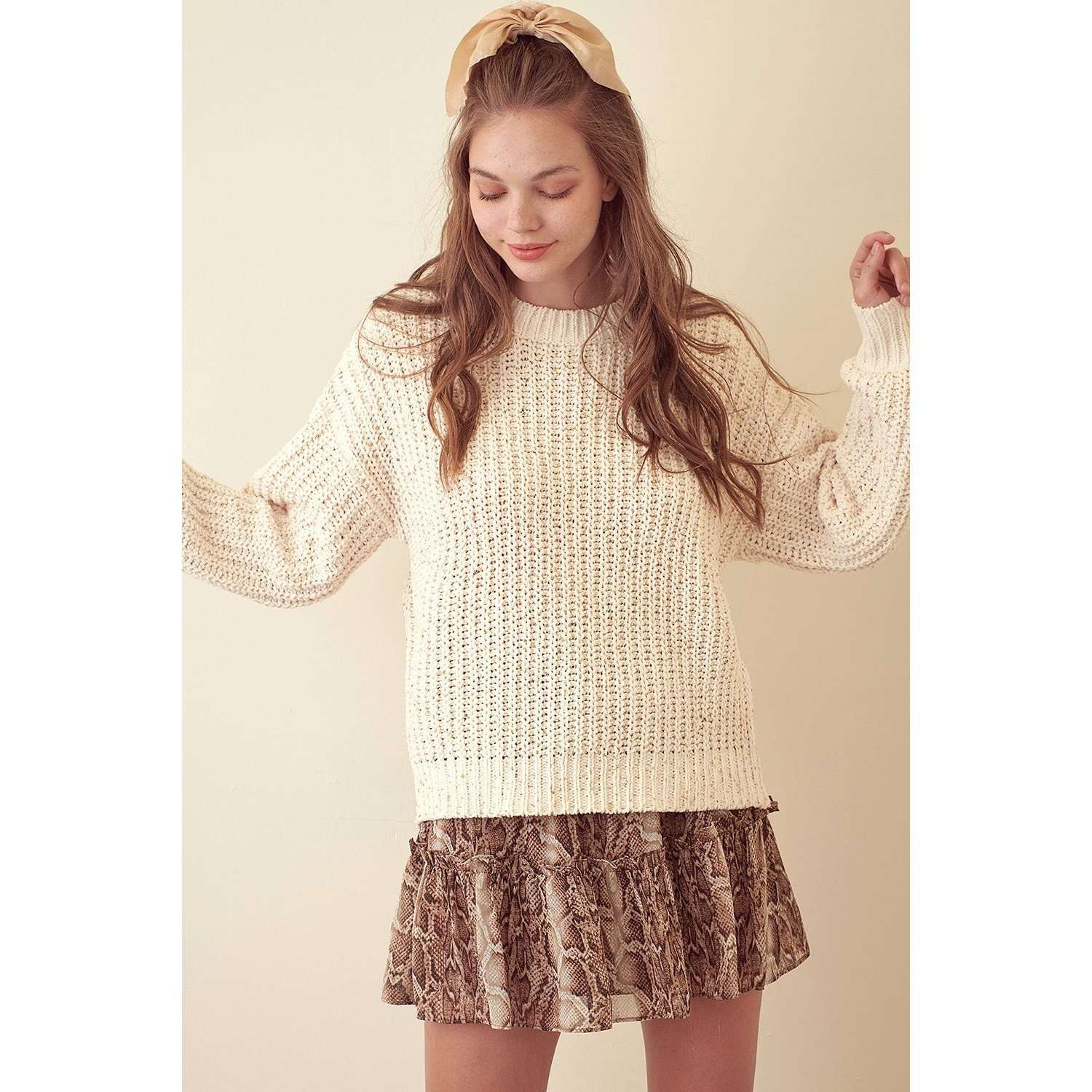 8.28 Boutique:Storia,Storia Ivory Sweater,Sweaters