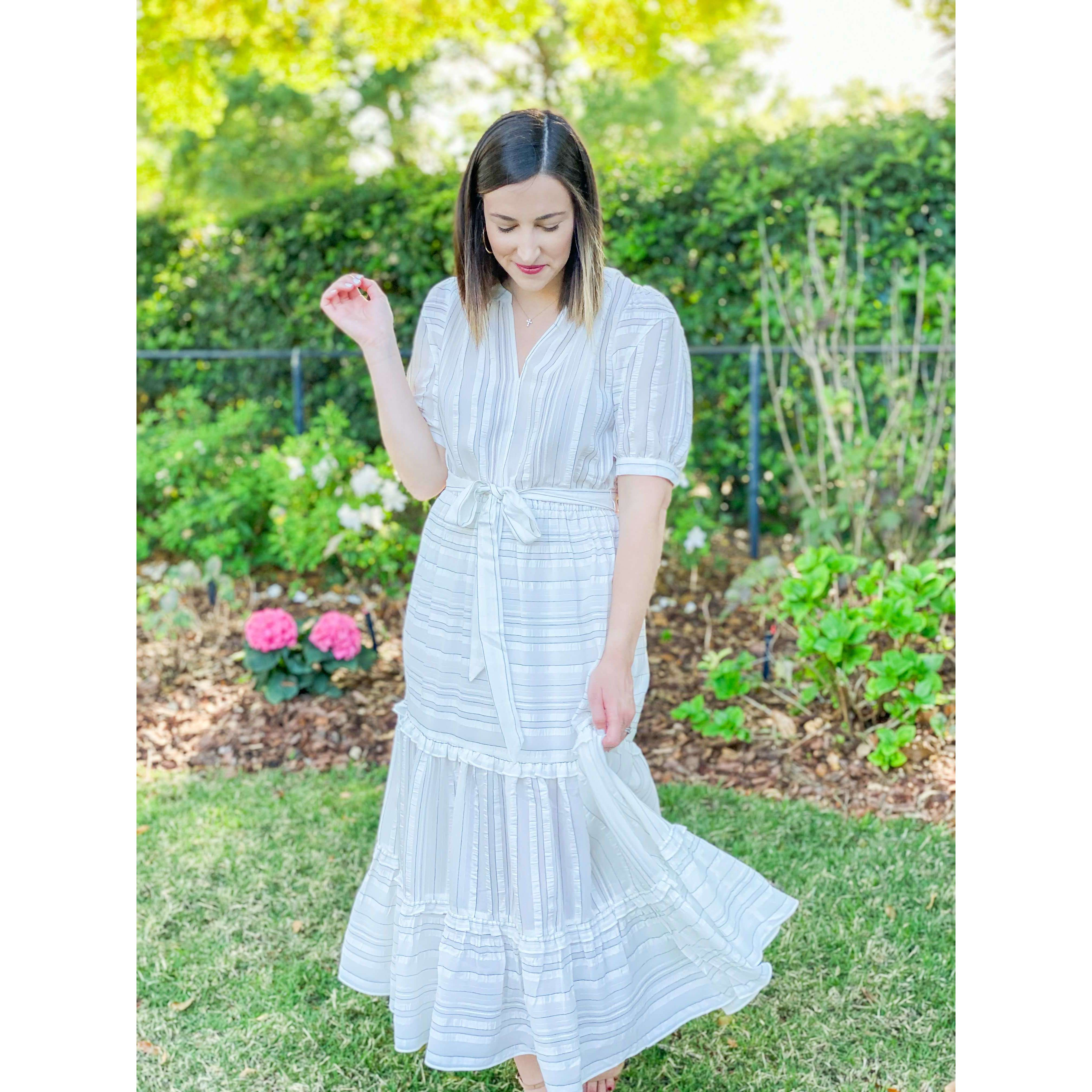 8.28 Boutique:Current Air,Current Air Striped Midi Dress,Dress