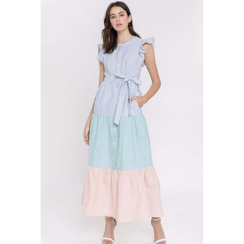 8.28 Boutique:English Factory,English Factory Blocking It Out Maxi,Dress